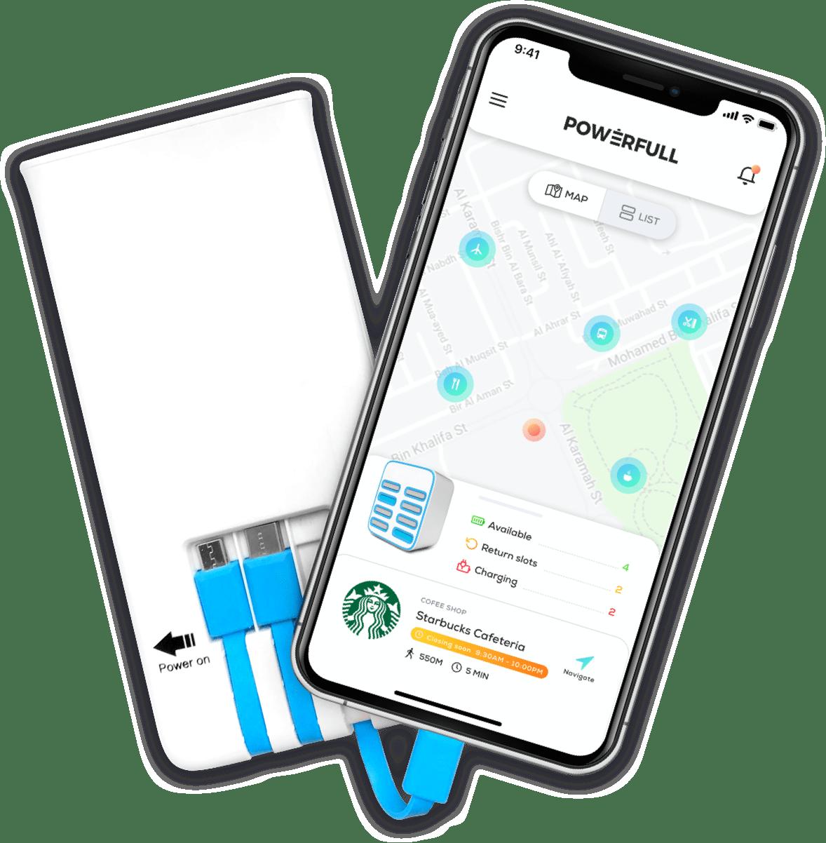 powerbank and phone